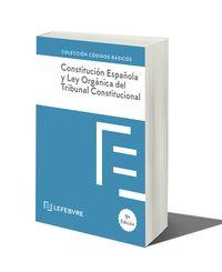 (9 ED) CONSTITUCION ESPAÑOLA Y LEY ORGANICA DEL TRIBUNAL CONSTITUCIONAL