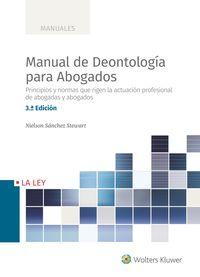 (3 ED) MANUAL DE DEONTOLOGIA PARA ABOGADOS