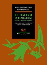 EL TEATRO EN EL SIGLO XVI - AUTORES Y PRACTICAS ESCENICAS