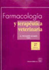 Farmacologia Y Terapeutica Veterinaria (2ª Ed. ) - Richard H. Adams