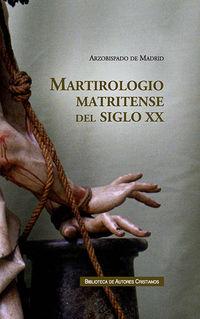 MARTIROLOGIO MATRITENSE DEL SIGLO XX