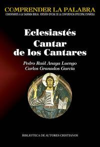 ECLESIASTES - CANTAR DE LOS CANTARES