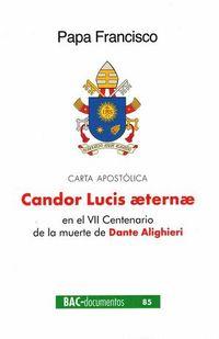 CANDOR LUCIS AETERNAE (CARTA APOSTOLICA) EN EL VII CENTENARIO DE LA MUERTE DE DANTE ALIGHIERI