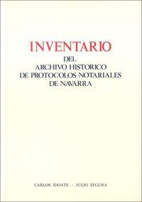 INVENTARIO DEL ARCHIVO HISTORICO DE PROTOCOLOS NOTARIALES DE NAVARRA