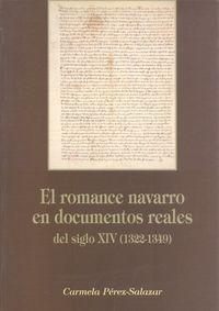 ROMANCE NAVARRO EN DOCUMENTOS REALES DEL SIGLO XIV (1322-1349) , EL
