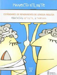 ESTANDARES SE RENDIMIENTO INGLES INFANTIL-PRIMARIA
