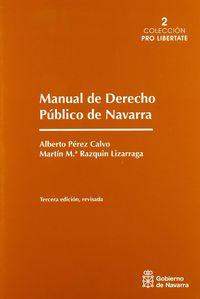 MANUAL DE DERECHO PUBLICO DE NAVARRA (3ª ED)