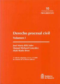 DERECHO PROCESAL CIVIL VOL. I (2ª ED)