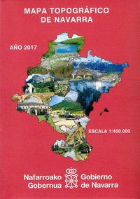 MAPA TOPOGRAFICO DE NAVARRA 1: 400000 (MURAL PLEGADO)