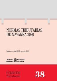 (2 Vols) Normas Tributarias De Navarra 2020 - Aa. Vv.