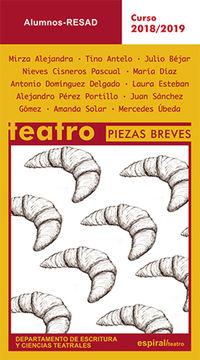 TEATRO PIEZAS BREVES - CURSO 2018-2019