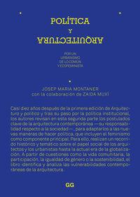 POLITICA Y ARQUITECTURA - POR UN URBANISMO DE LO COMUN Y ECOFEMINISTA