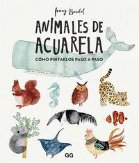 ANIMALES DE ACUARELA - COMO DIBUJARLOS PASO A PASO