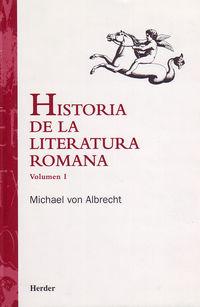 HISTORIA DE LA LITERATURA ROMANA (VOL.1)