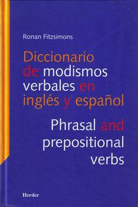 DICC. DE MODISMOS VERBALES EN INGLES Y ESPAÑOL