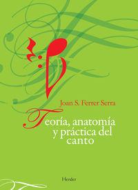 TEORIA, ANATOMIA Y PRACTICA DEL CANTO