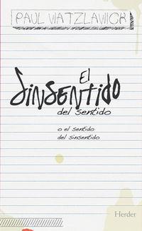 SINSENTIDO DEL SENTIDO, EL