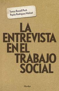 ENTREVISTA EN EL TRABAJO SOCIAL, LA
