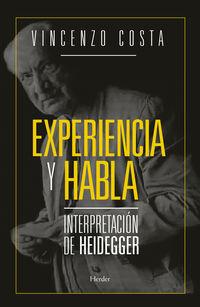 EXPERIENCIA Y HABLA - INTERPRETACION DE HEIDEGGER