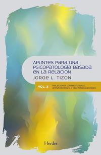 APUNTES PARA UNA PSICOPATOLOGIA BASADA EN LA RELACION II - RELACIONES DRAMATIZADAS, ATEMORIZADAS Y RACIONALIZADORAS