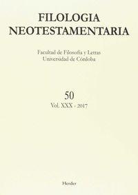 FILOLOGIA NEOTESTAMENTARIA N.50 VOL. XXX - 2017