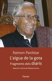 L'aigua De La Gota - Fragments Dels Diaris - Raimon Panikkar