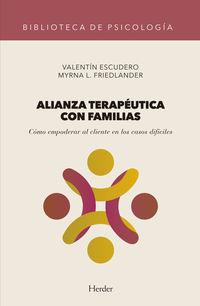 ALIANZA TERAPEUTICA CON FAMILIAS - COMO EMPODERAR AL CLIENTE EN LOS CASOS DIFICILES