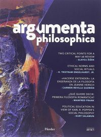ARGUMENTA PHILOSOPHICA REVISTA N.1 2018