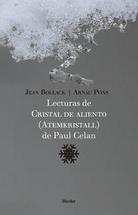 LECTURAS DE CRISTAL DE ALIENTO (ATEMKRISTALL) DE PAUL CELAN