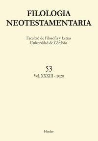 FILOLOGIA NEOTESTAMENTARIA N.53 VOL. XXX-III 2020