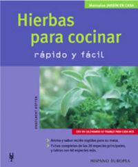 HIERBAS PARA COCINAR - RAPIDO Y FACIL
