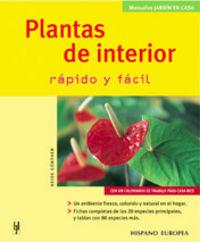 PLANTAS DE INTERIOR - RAPIDO Y FACIL