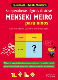 """Menseki Meiro Para Niños - Rompecabezas Logicos De Areas - Naoki Inaba / Ry""""ichi Murakami"""