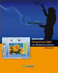 APRENDER POWERPOINT 2007 CON 100 EJERCICIOS PRACTICOS