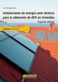 INSTALACIONES DE ENERGIA SOLAR TERMICA PARA OBTENCION DE ACS EN VIVIENDAS
