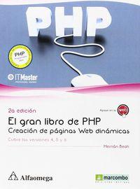 GRAN LIBRO DE PHP - CREACION DE PAGINAS WEB (2ª ED)