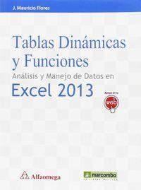 TABLAS DINAMICAS Y FUNCIONES - ANALISIS Y MANEJO DE DATOS EN EXCEL 2013