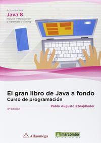 GRAN LIBRO DE JAVA A FONDO, EL