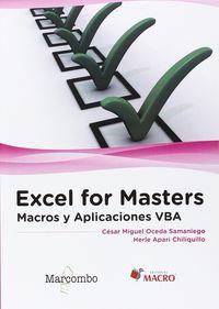 EXCEL FOR MASTERS - MACROS Y APLICACIONES VBA