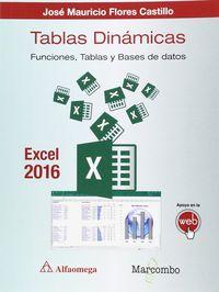 TABLAS DINAMICAS CON EXCEL 2016 - FUNCIONES, TABLAS Y BASES DE DATOS