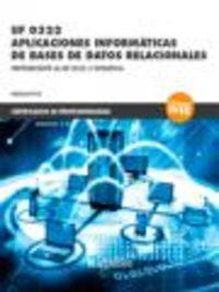 CP - APLICACIONES INFORMATICAS DE BASES DE DATOS RELACIONALES - UF0322