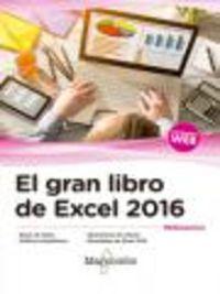 GRAN LIBRO DE EXCEL 2016, EL