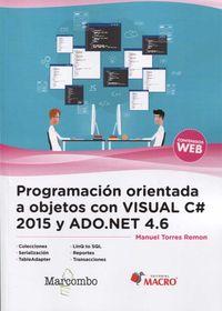 PROGRAMACION ORIENTADA A OBJETOS CON VISUAL C# 2015 Y ADO. NET 4.6