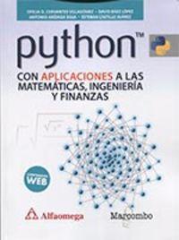 Python Con Aplicaciones A Las Matematicas, Ingenieria Y Finanzas - Aa. Vv.