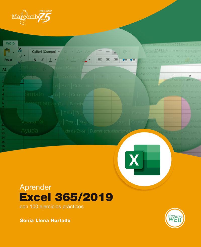 APRENDER EXCEL 365 / 2019 - CON 100 EJERCICIOS PRACTICOS