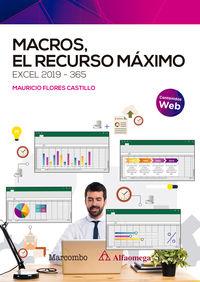 MACROS, EL RECURSO MAXIMO. EXCEL 2019-365