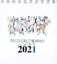 TACO CALENDARIO CON PEANA 2021 - CORAZON DE JESUS (PORTADA NUMEROS)