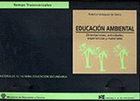 EDUCACION AMBIENTAL - ORIENTACIONES, ACTIVIDADES, EXPERIENCIAS Y MATERIALES
