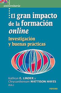 GRAN IMPACTO DE LA FORMACION ONLINE, EL - INVESTIGACION Y BUENAS PRACTICAS