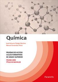 QUIMICA - PRUEBAS DE ACCESO A CICLOS FORMATIVOS DE GRADO SUPERIOR